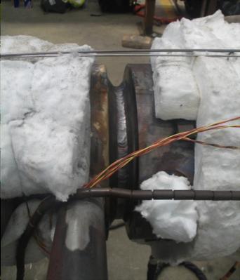 Figure 4 - Gr 91 butt weld on header repair