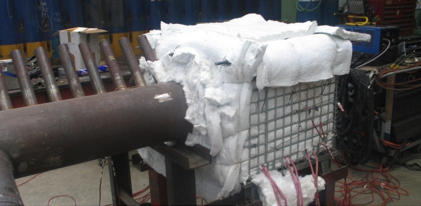 Figure 5 - Post weld heat treatment set up for header repair
